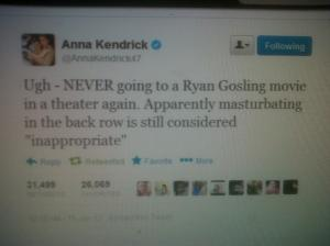 Anna Kendricks Masturbation Tweet